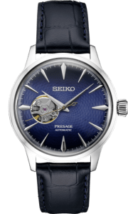 Seiko Presage Cocktail Time -Geocentric Blue Dial on Leather - SSA405 - Mens
