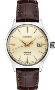 Seiko Presage Cocktail Time - Gold Hands Steel Case -SRPC99