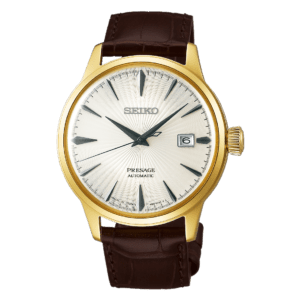 Seiko Presage Cocktail Time - Margarita - Gold Case - Grey Hands- SRPB44