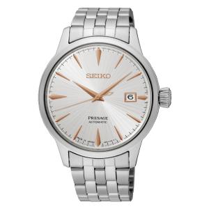 Seiko Presage Cocktail Time - White Dial Gold hands - Bracelet - SRPB47J1