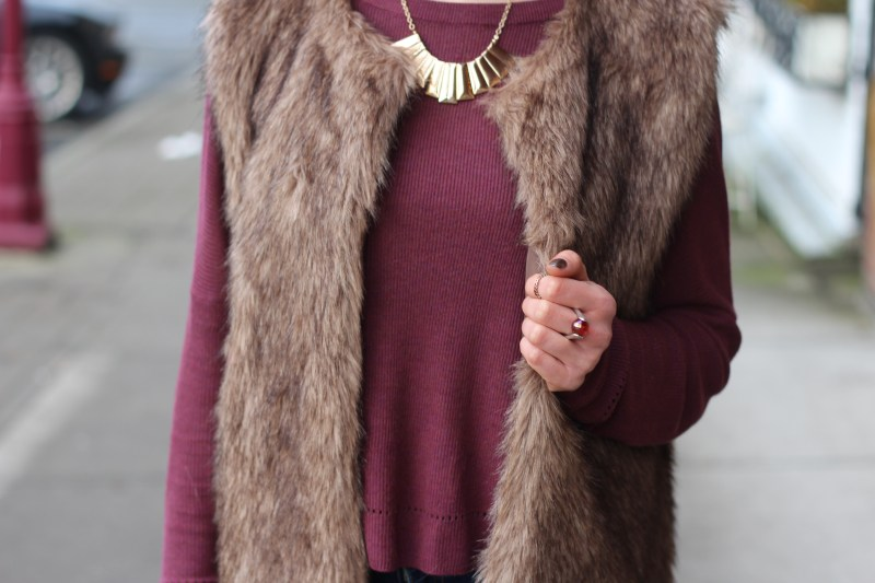 fur vest ootd with Becca 048