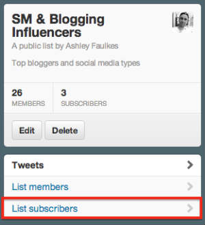 Find Subscribers To Your Twitter Lists