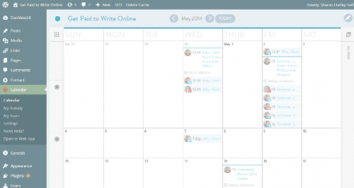CoSchedule color coded calendar