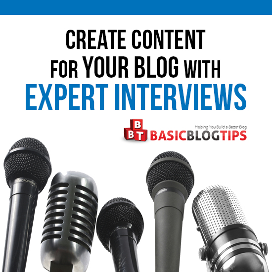 Create Blog Content with Expert Interviews