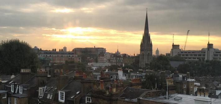 London sun rise