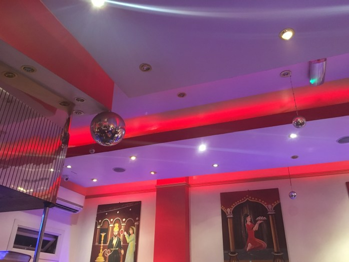 Disco balls in Aladin curry house
