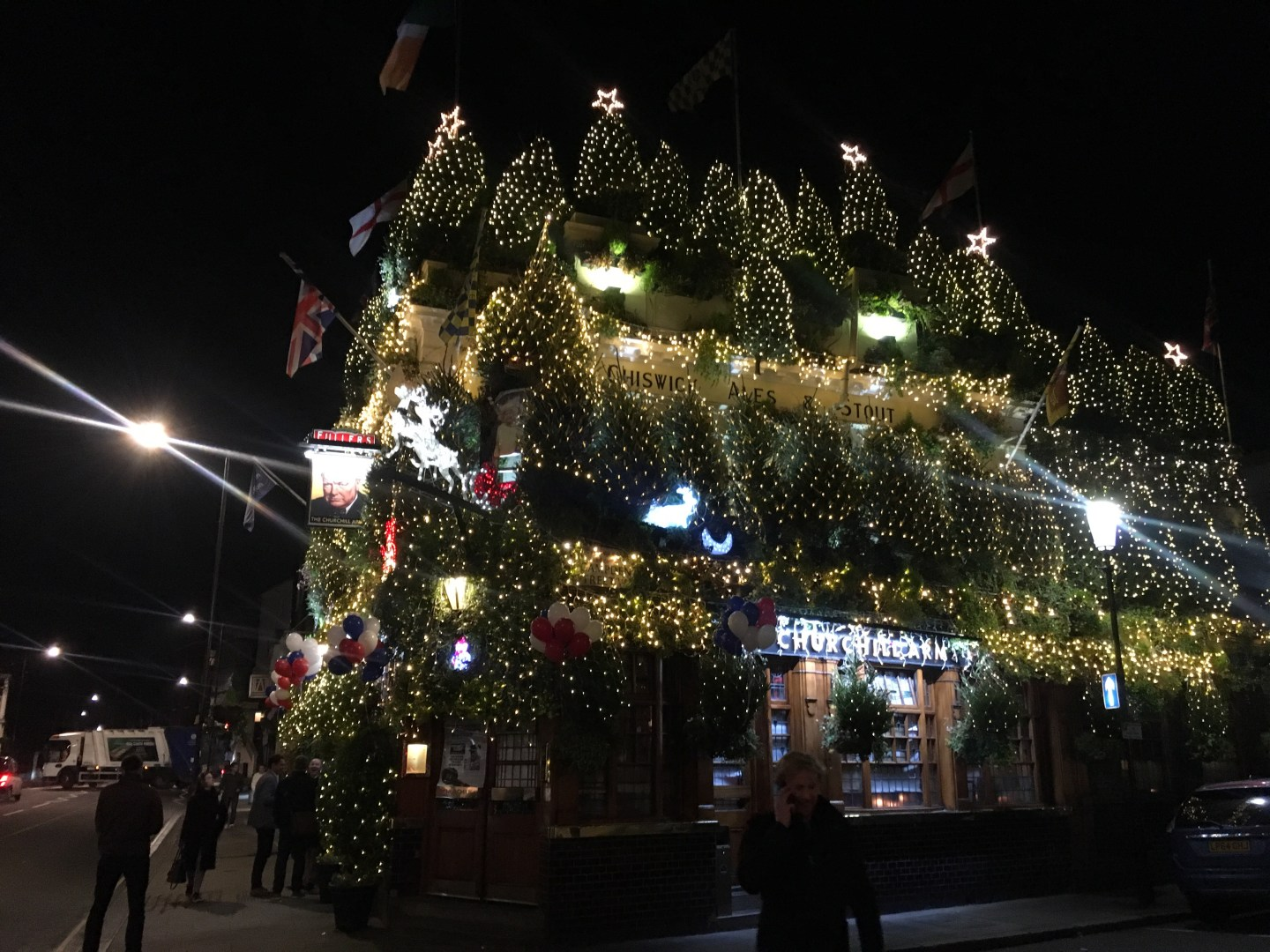 The Churchill Arms at Christmas