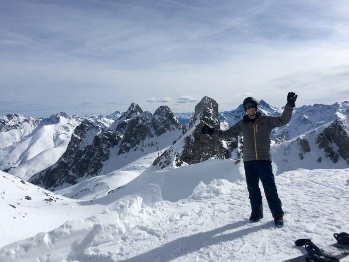 Andrew atop Valluga
