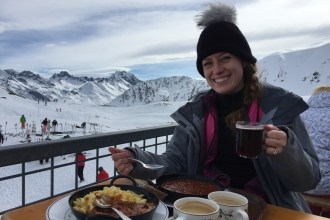 Lunch on top of the mountain in St Anton