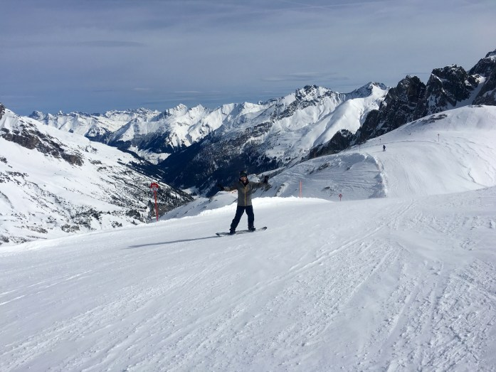 Skiing Valluga in St Anton