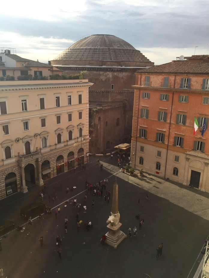 View from Minerva Roof Garden, Rome, Italy