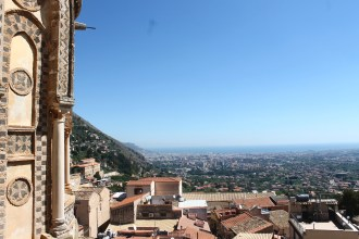 Palermo, Italy from the duomo of Monreale