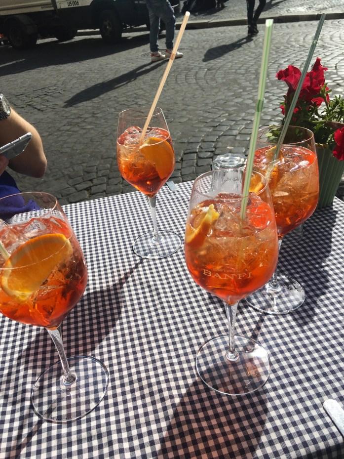 Aperol spritzes in Rome, Italy