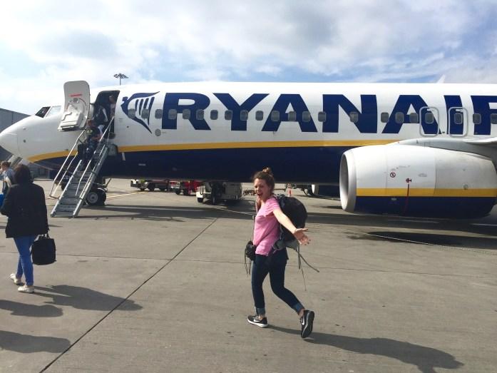Ryan Air to Rome, Italy
