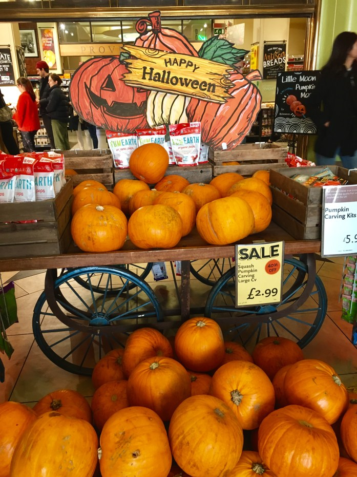 You can find pumpkins for Halloween at Whole Foods in London