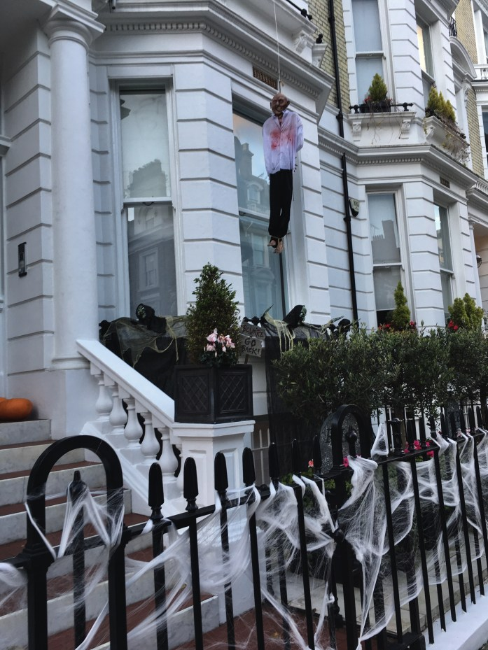 Trick or treating on Halloween in London