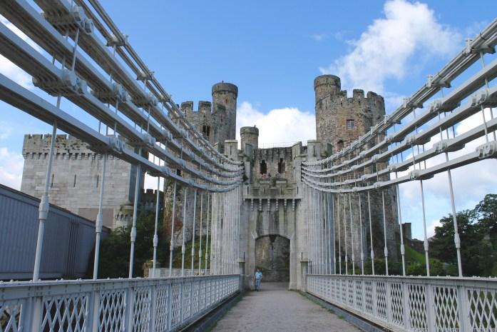 Bridge outside Conwy Castle, Wales