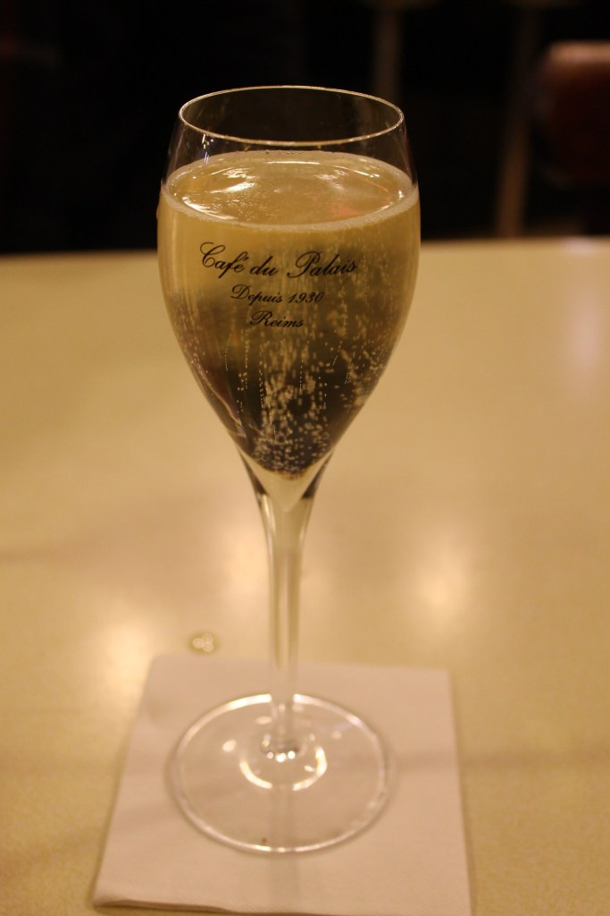 Champagne at Cafe du Palais, Reims