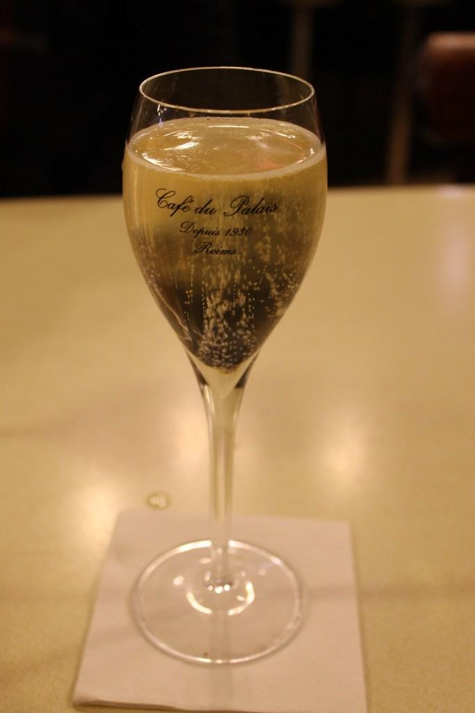 Champagne at Cafe du Palais, Reims