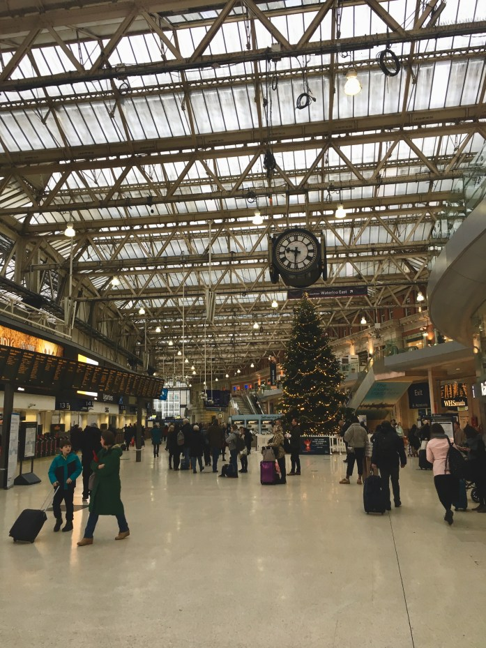 Waterloo Station at Christmas