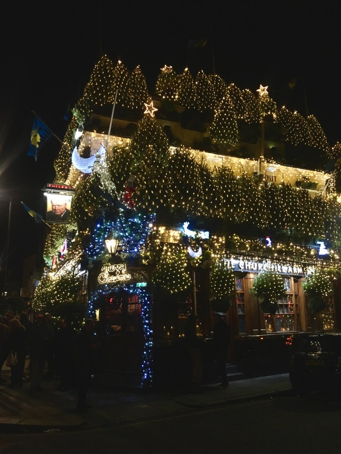 Churchill Arms at Christmas