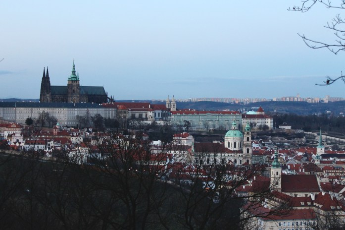 Prague Castle from Petrin Park