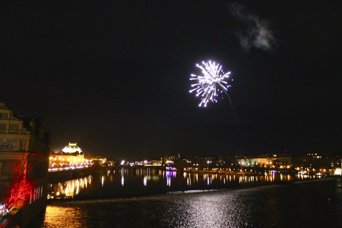 Fireworks on New Years in Prague