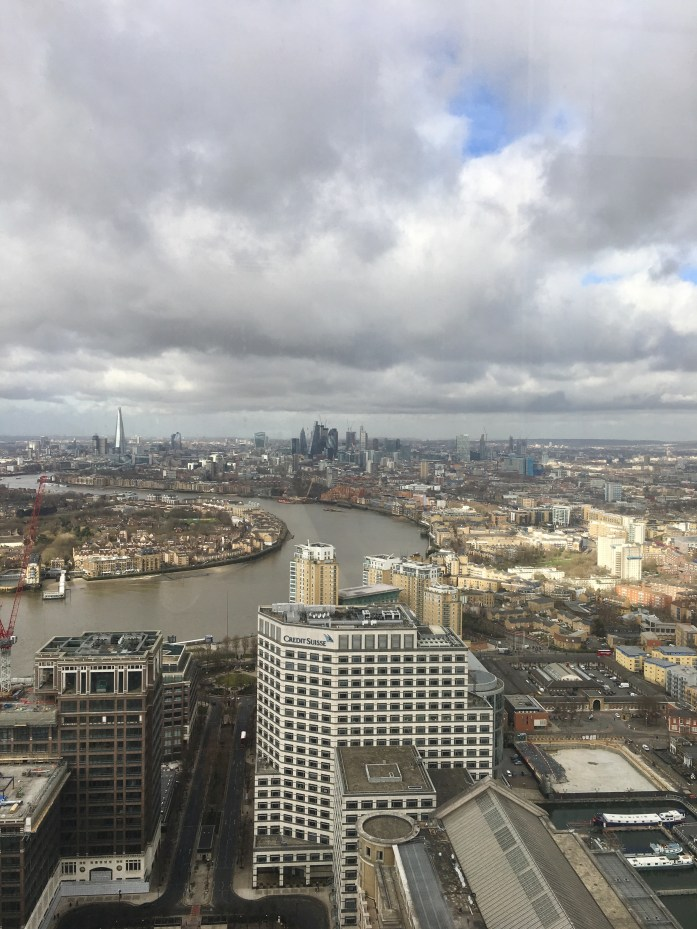 View from Canary Wharf