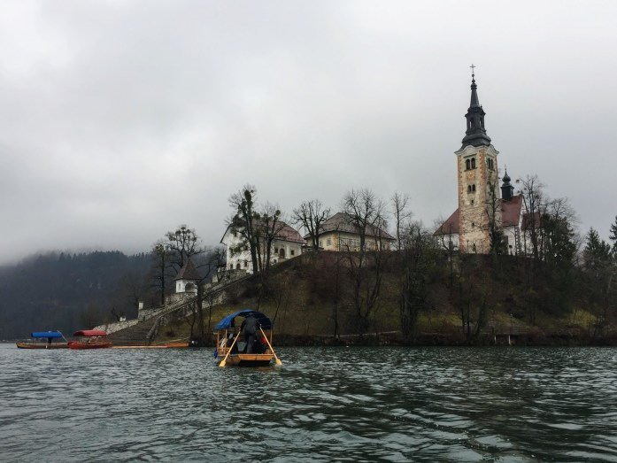 Bled Island by boat