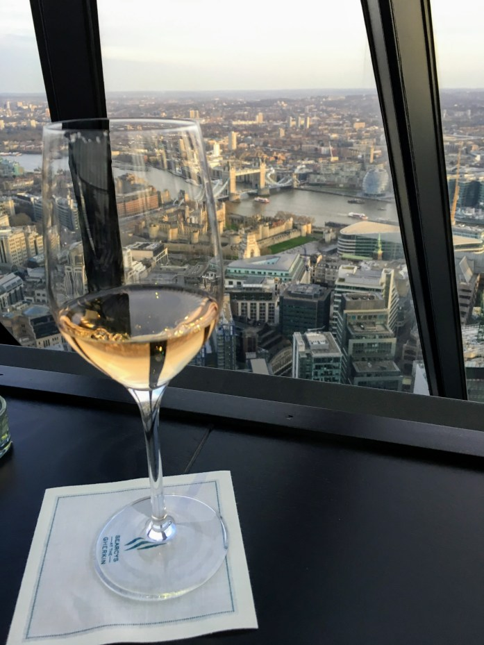 Drink with a view of London at Searcy's at the Gherkin