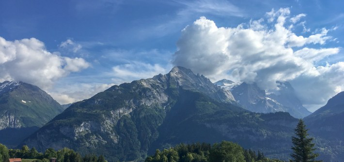 Swiss Alps view from Reuti
