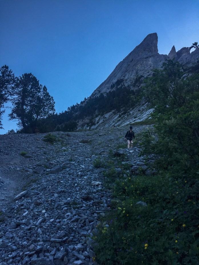 Descending Engelhornhütte