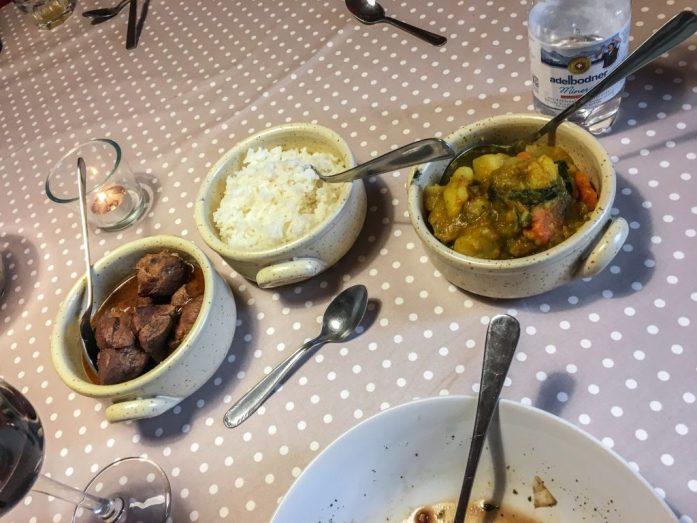 Lobhornhutte Dinner