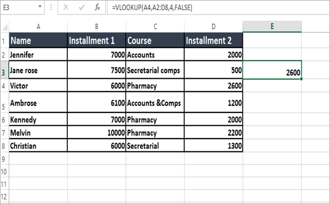 VLOOKUP parameters final part