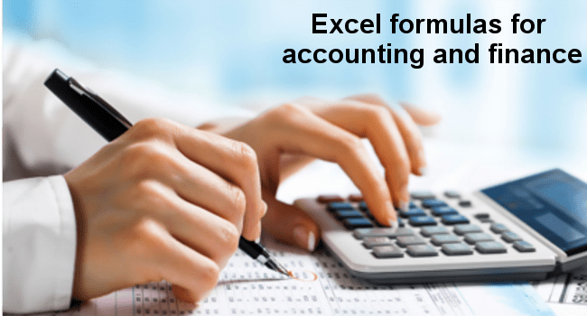 excel formulas for accounting and finance basic excel tutorial