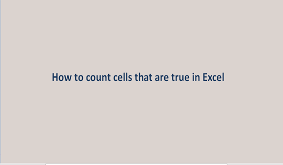 How to count cells that are true in Excel