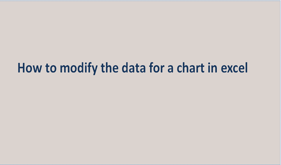 You are currently viewing How to modify the data for a chart in excel