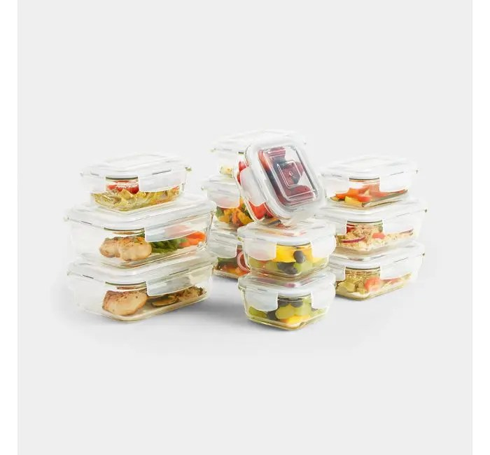 12pc Glass Container Storage Set 1