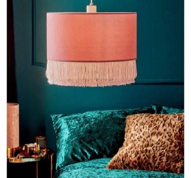 Teal bedroom Pink Velvet Shade