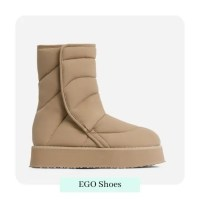 Thickness Quilted Ankle Boot In Nude