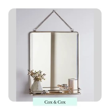 French gold/brass Folding Mirror - Large By cox and cox