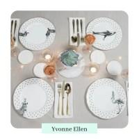 Monochrome Animal Dinner Plate Set