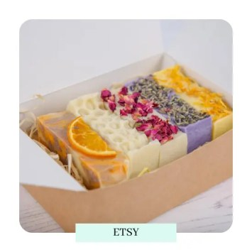 etsy Handmade Shea Butter Soap Gift Box - 5 Soaps Mothers Day