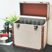 Compact 12 Inch Vinyl Retro Storage Case - Grey at Yes,I want it