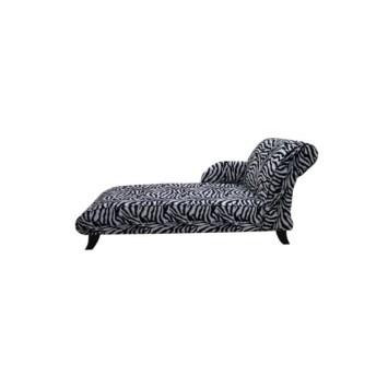 Zebra Fabric chaise lounge seat designer sofas 1