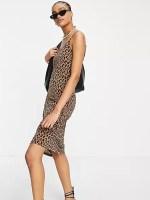 Vila cami maxi dress in leopard print asos