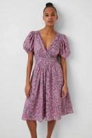 Flores Cotton V Neck Midi Dress French Connection