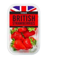 British Strawberries in a tub from Iceland