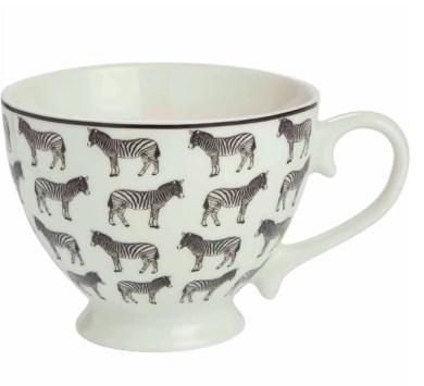 Candlelight Zebra Footed Mug