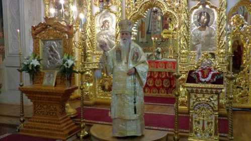 Slujbă arhierească la Biserica Sfântul Spiridon